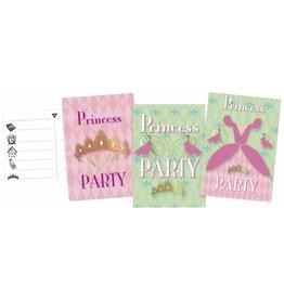 Uitnodigingskaarten Princess (6 stuks)