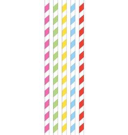 Papieren Rietjes Color World (20 stuks)