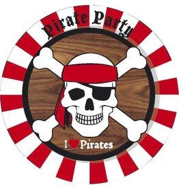 Bordjes Piraten (23 cm, 8 stuks)