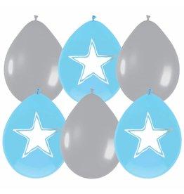 Ballonnen Babyboy beschrijfbaar (30 cm, 6 stuks)