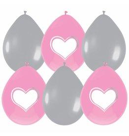Ballonnen Babygirl Beschrijfbaar (30 cm, 6 stuks)