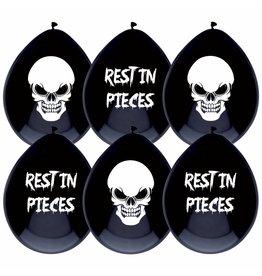 Ballonnen Rest in Pieces, Halloween (6 stuks)