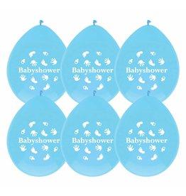 Ballonnen Babyshower Jongen (30 cm, 6 stuks)