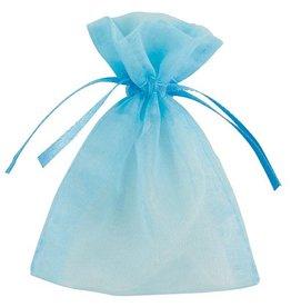 Organza Uitdeelzakjes Babyblauw (10 stuks)