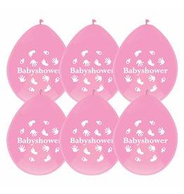 Ballonnen Babyshower Meisje (6 stuks)