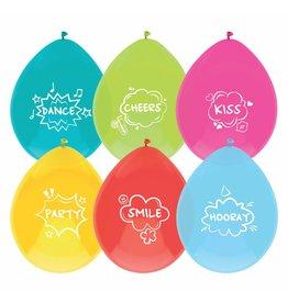 Ballonnen Party Quotes (30 cm, 6 stuks)