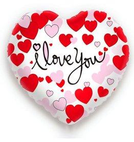 Folie Ballon I Love You (45 cm)