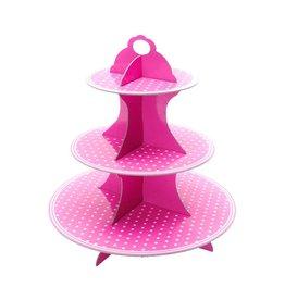 Etagere Cupcake Roze Carton