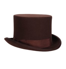 Hoge hoed 14cm, Bruin