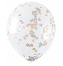 Ballon Transparant met Ster Confetti (40 cm, 5 stuks)