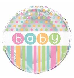 Folie Ballon Baby, Pastel (45 cm)