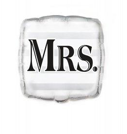 Folie Ballon Huwelijk Mrs. (45 cm)