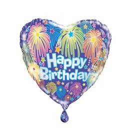 Folie Ballon Hart Happy Birthday (45 cm)
