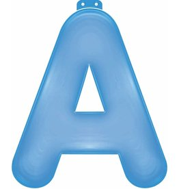 Funtext Opblaas Letters/Cijfers Blauw 35cm