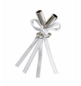 12 Silver Mini Flute Champagne Favor