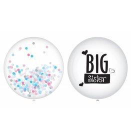Ballonnen Big Sister (40 cm, 2 stuks)