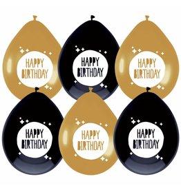 Ballonnen Festive Gold Hip Hip Hooray (6 stuks)