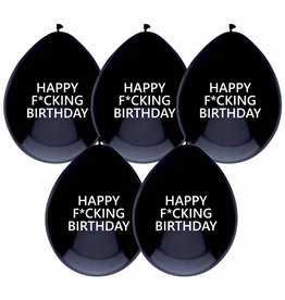 Ballonnen Happy F*cking Birthday 6 st. 30 cm