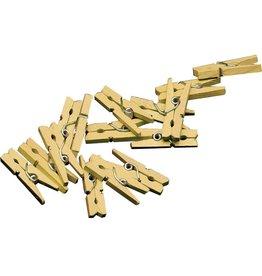 Miniknijpers Goud (20 stuks)