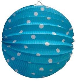 Bollampion Blauw met Stippen (23 cm)