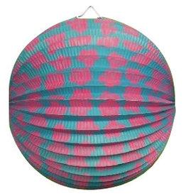 Bol Lampion blauw & roze 23 cm