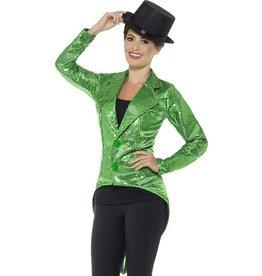 Sequin Slipjas Dames, Groen
