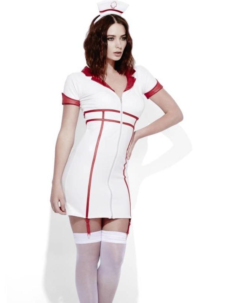c5317ddb3ddf45 Fever Verpleegster jurk Wetlook - De verkleedzolder, voor al uw ...
