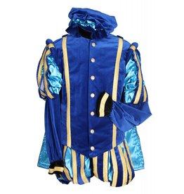 """Piet fluweel luxe met cape """"Malaga"""", Blauw-Turquoise"""