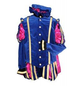 """Piet fluweel luxe met cape """"Malaga"""", Blauw-Roze"""