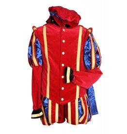 """Piet fluweel luxe met cape """"Malaga"""", Rood-Blauw"""