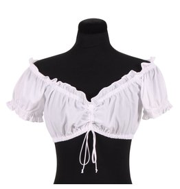 "Dirndl blouse ""Anna"", Wit"
