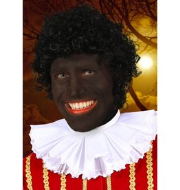 Pruik Pedro, zwarte piet, luxe