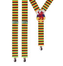 Bretels breed rood/geel/groen met wapen Limburg