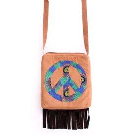 Schoudertas hippie bruin