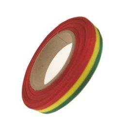 Medaille lint rood/geel/groen 25 meter op rol 10 mm
