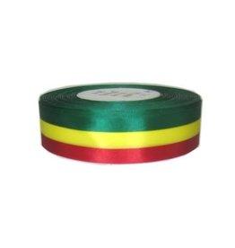 Medaille lint rood/geel/groen 25 meter op rol 25mm