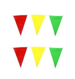 Vlaggenlijn rood/geel/groen 10m