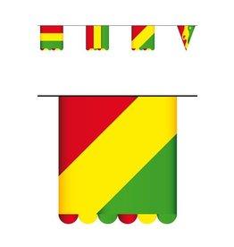 Vlaggenlijn karton, rood/geel/groen  3 mtr dubbelzijdig