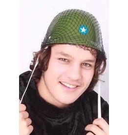 Plastic soldaten helm camouflage