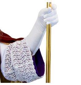 handschoenen Wit Luxe (40cm)