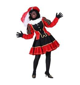 Damespiet Murcia zwart/rood