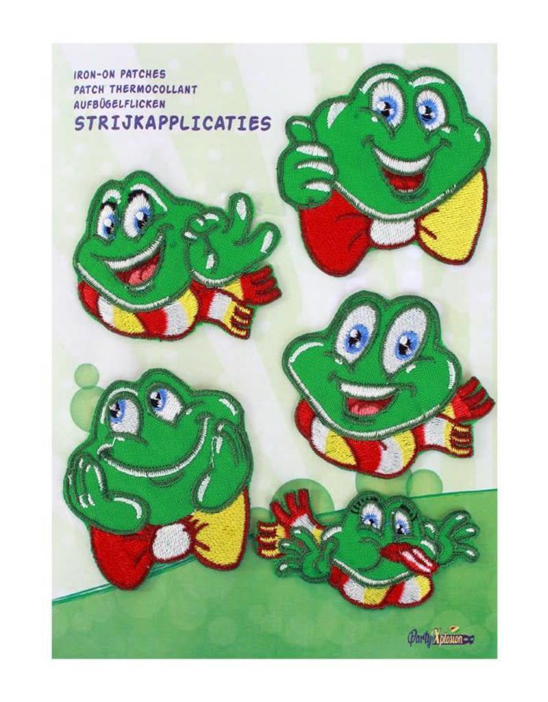 Verbazingwekkend Applicaties 5 stuks op kaart Oeteldonk, smiley kikkers, - De GP-44