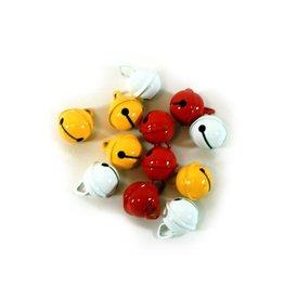 Belletjes R1 15 mm 12 st in z.b., rood-wit-geel