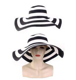 Flaphoed zwart/wit voor Dames
