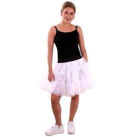 Petticoat wit 3-laags volwassenen onesize