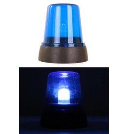 Zwaailicht blauw 12 cm. politie