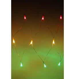 Visnet rood/geel/groen, 96 lampjes, 150x100 cm. Op netstroom