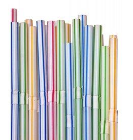Plastic Rietjes Assorti (21 cm, 40 stuks)