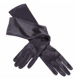 Gala handschoenen elastisch 48 cm lang, zwart