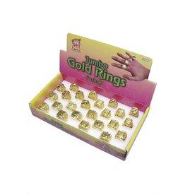 Assortiment van 24 Ringen, goud kleur, prijs per stuk